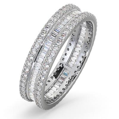 Eternity Ring Katie Platinum Diamond 1.00ct H/Si