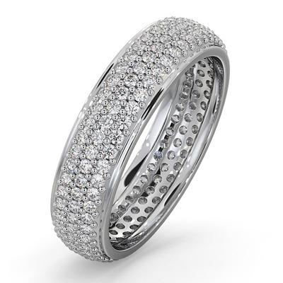 Eternity Ring Sara Platinum Diamond 1.00ct G/Vs