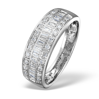 Eternity Ring Baguette Diamond 0.22ct in 9K White Gold