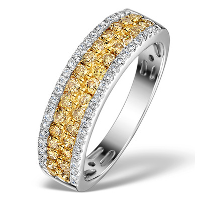 LUNA 18K GOLD YELLOW Diamond AND DIAMOND 0.90ct Ring
