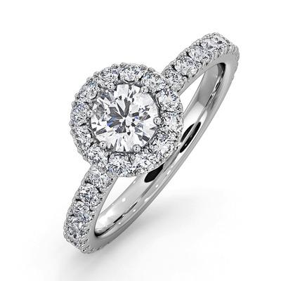 Alessandra GIA Diamond Engagement  Ring Platinum 1.10CT G/SI2