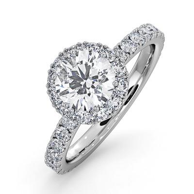 Alessandra GIA Diamond Engagement  Ring Platinum 1.70CT G/VS1