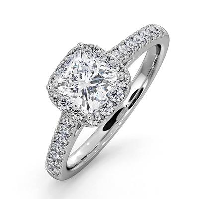 Roxy GIA Diamond Engagement Side Stone Ring Platinum 1.58CT G/SI2