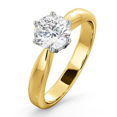 Certified High Set Chloe 18KY DIAMOND Engagement Ring 1.00CT