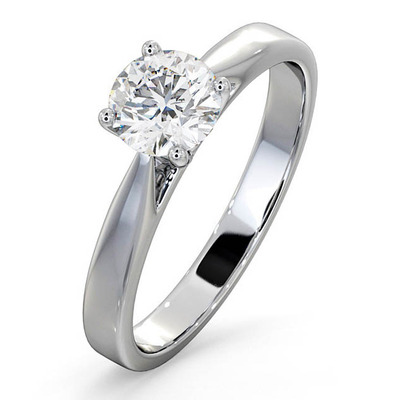 Engagement Ring Certified 0.90CT Petra Platinum  G/SI1