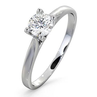 Certified Grace 18K White Gold Diamond Engagement Ring 0.50CT