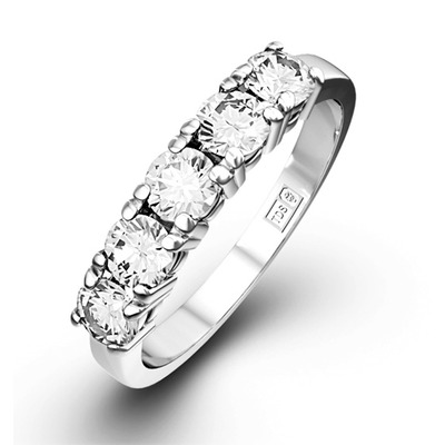 Chloe Platinum 5 Stone Diamond Eternity Ring 1.50CT H/SI