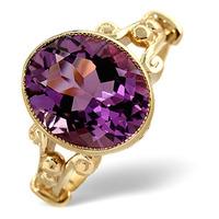 Amethyst 4.15ct 9K Gold Ring