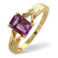 Amethyst 0.85ct 9K Gold Ring