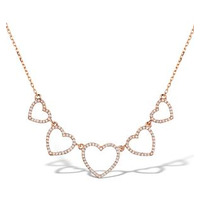 Vivara Collection 0.47ct Diamond 9K Rose Gold Heart Necklace D3406