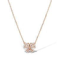 Vivara Collection 0.42ct diamond 9K Rose Gold Butterfly Necklace D3407