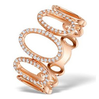 Vivara Collection 0.25ct Diamond and 9K Rose Gold Ring E5930