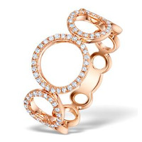 Vivara Collection 0.22ct Diamond and 9K Rose Gold Ring E5931