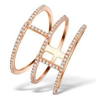 Vivara Collection 0.32ct Diamond and 9K Rose Gold Ring E5948