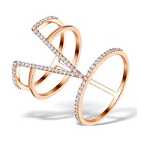 Vivara Collection 0.37ct Diamond and 9K Rose Gold Ring E5940