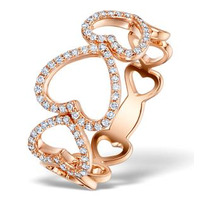Vivara Collection 0.28ct Diamond and 9K Rose Gold Heart Ring E5941