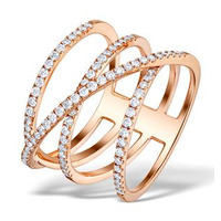 Vivara Collection 0.74ct Diamond and 9K Rose Gold Ring E5953