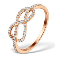 Vivara Collection 0.31ct Diamond and 9K Rose Gold Ring E5958