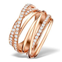 Vivara Collection 1.12ct Diamond and 9K Rose Gold Ring E5965