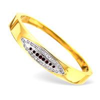 18K Gold Diamond and Ruby Design Bangle 0.50CT