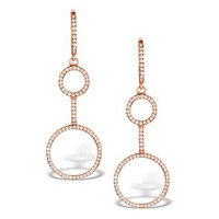 Vivara Collection 0.52ct Diamond and 9K Rose Gold Earrings H4560