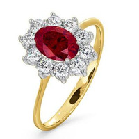 Ruby 1.15ct And Diamond 0.50ct 18K Gold Ring