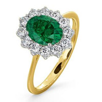 Emerald 1.15ct And Diamond 0.50ct 18K Gold Ring