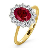 Ruby 1.35ct And Diamond 0.50ct 18K Gold Ring