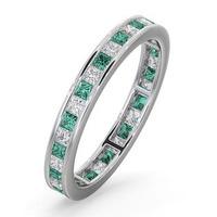 Eternity Ring Lauren Diamonds H/SI and Emerald 1.15CT - Platinum