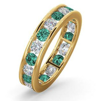 ETERNITY RING RAE DIAMONDS H/SI AND EMERALD 1.70CT - 18K GOLD