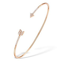 Vivara Collection 0.17ct Diamond and 9K Rose Gold Arrow Bangle L3333