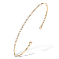 Vivara Collection 0.21ct Diamond and 9K Rose Gold Bangle L3336