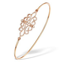 Vivara Collection 0.48ct Diamond and 9K Rose Gold Bangle L3339