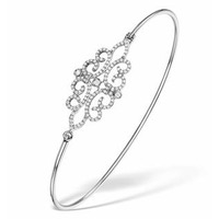 Vivara Collection 0.48ct Diamond and 9K White Gold Bangle L3339Y