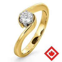 Leah 18K Gold Canadian Diamond Engagement Ring 0.30CT H/SI2