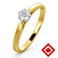 Low Set Chloe 18K Gold Canadian Diamond Engagement Ring 0.30CT G/VS1