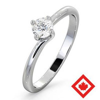 Lily Platinum Canadian Diamond Engagement Ring 0.30CT G/VS1
