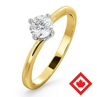 Lily 18K Gold Canadian Diamond Engagement Ring 0.50CT G/VS2