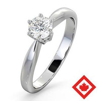 High Set Chloe Platinum Canadian Diamond Engagement Ring 0.50CT H/SI1