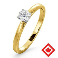 Engagement Ring Petra 18K Gold Canadian Diamond  0.30CT H/SI1