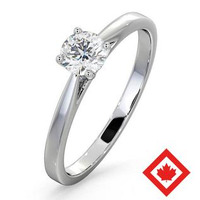 Engagement Ring Petra Platinum Canadian Diamond  0.50CT H/SI2