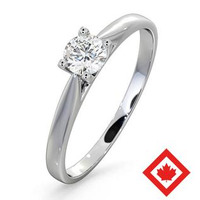 Grace 18K White Gold Canadian Diamond Engagement Ring 0.30CT G/VS1