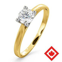 Grace 18K Gold Canadian Diamond Engagement Ring 0.50CT H/SI2