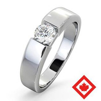 Jessica 18K White Gold Canadian Diamond Engagement Ring 0.50CT H/SI1