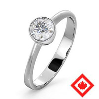 Canadian Diamond Engagement Ring - Emily 0.50CT G/VS1 - Platinum