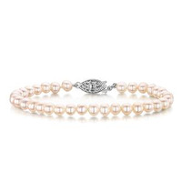 5mm Freshwater Pearl Amelie Collection Bracelet with 925 Silver Clasp
