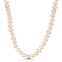 6.5mm Freshwater Pearl Amelie 16 Inch Necklace with 925 Silver Clasp