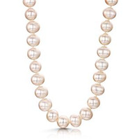 Extra Long 8mm Freshwater Pearl Amelie Necklace 925 Silver Clasp