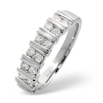 Anchor Certified 0.50 H/SI Diamond  18K White Gold Ring