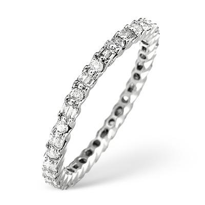 Platinum Diamond Eternity Ring 0.49ct - Size T